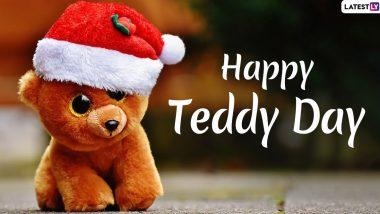 Teddy Day 2020 Wishes & Messages: अपने प्यार को भेजें ये रोमांटिक हिंदी WhatsApp Status, GIF Images, Facebook Greetings, Shayari, SMS, Wallpapers और उनसे कहें टेडी डे मुबारक