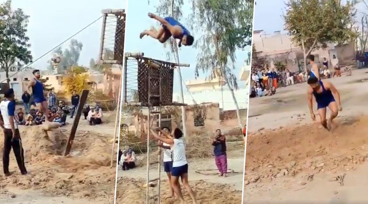 इसे कहते हैं देसी जुगाड़, सीढ़ी और चारपाई की मदद से पोल वॉल्ट करता दिखा पंजाब का यह शख्स, देखें वायरल वीडियो