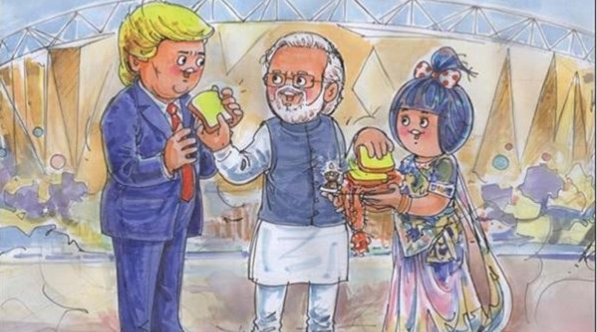 अमेरिकी राष्ट्रपति का अमूल ने किया खास अंदाज में स्वागत, डोनाल्ड ट्रंप और पीएम मोदी का बनाया ये स्पेशल डूडल