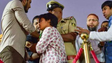 ओवैसी के मंच से 'पाकिस्तान जिंदाबाद' के नारे लगाने वाली अमूल्या गिरफ्तार, 14 दिन की न्यायिक हिरासत में भेजा गया