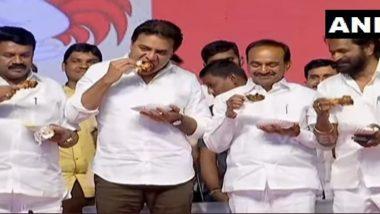 तेलंगाना के मंत्रियों ने मंच पर खाया चिकन, कोरोना वायरस को लेकर फैली अफवाहों पर लगाया विराम, देखें तस्वीरे