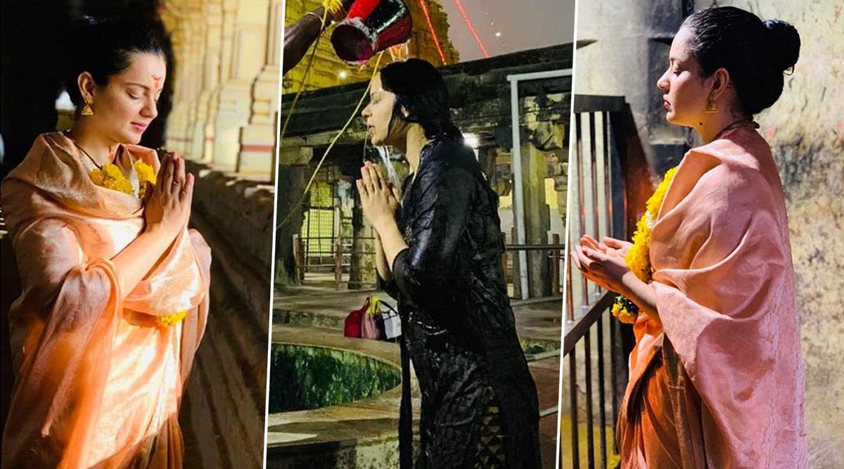 शिव भक्ति में डूबी कंगना रनौत, रामेश्वरम जाकर की पूजा पाठ, देखें Photos