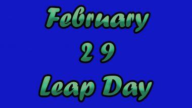 Leap Year 2020: इस वर्ष 29 दिनों की होगी फरवरी! जानें क्या और क्यों होता है लीप ईयर! क्या कहते हैं ज्योतिष, साथ ही कुछ रोचक तथ्य