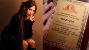 बिग बॉस 13: माहिरा शर्मा को मोस्ट फैशनेबल कंटेस्टेंट के लिए मिला दादा साहेब फाल्के अवॉर्ड