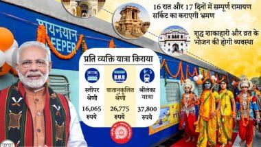 भारतीय रेलवे का बड़ा तोहफा, चैत्र नवरात्रि पर भक्तों को श्रीराम से जुड़े तीर्थ स्थलों के कराए जाएंगे दर्शन