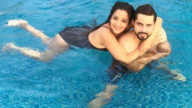 मोनालिसा ने मोनोक्रोम बिकिनी पहन स्विमिंग पूल में पति संग किया जमकर एन्जॉय, देखें फोटोज