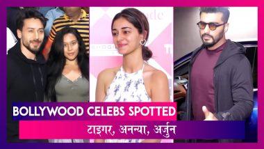 Tiger Shroff पहुंचे सिनेमा हॉल, Ananya-Arjun भी हुए स्पॉट | Bollywood Celebs Spotted