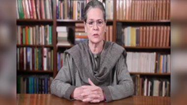 कोरोना से जंग: सोनिया गांधी बोली, डॉक्टर, नर्स और बाकी मेडिकल स्टाफ को जरूरी चीजें  उपलब्ध कराए सरकार