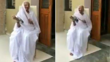 जनता कर्फ्यू: पीएम मोदी की मां हीराबेन ने भी बजाई थाली, कुछ इस अंदाज में किया 'कोरोना कर्मवीरों' का सम्मान, देखें Video
