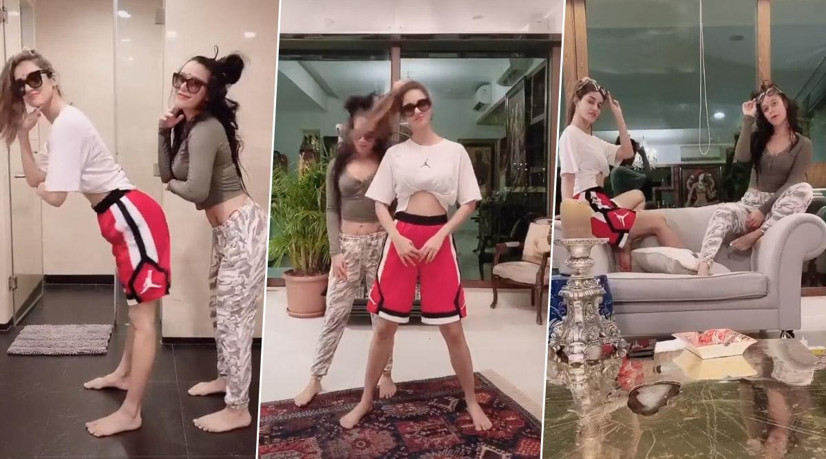 दिशा पटानी ने बॉयफ्रेंड टाइगर श्रॉफ की बहन संग कृष्णा श्रॉफ बनाया मजेदार TikTok Video