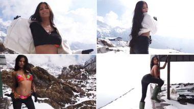 Poonam Pandey Hot Video: चार दिवारी में नहीं बल्कि अब बर्फीले पहाड़ पर पूनम पांडे दिखा रही हैं अपने जलवे