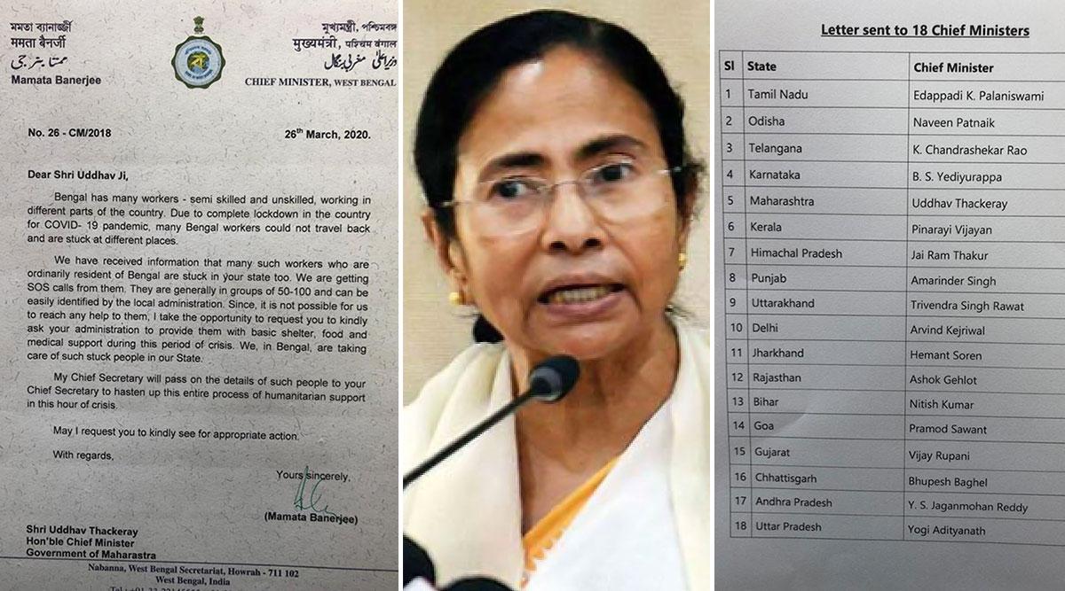 कोरोना वायरस से जंग: पश्चिम बंगाल की CM ममता बनर्जी ने लिखा 18 राज्यों के मुख्यमंत्रीयों को पत्र- फंसे बंगाल के लोगों की करें मदद