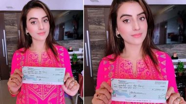 कोरोना वायरस से लड़ाई के लिए भोजपुरी एक्ट्रेस अक्षरा सिंह ने मुख्यमंत्री राहत कोष में दिए 1 लाख रुपये
