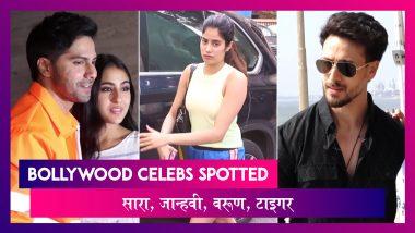 Sara Ali Khan, Janhvi Kapoor, Varun Dhawan, Tiger Shroff स्पॉट हुए I Celebs Spotted