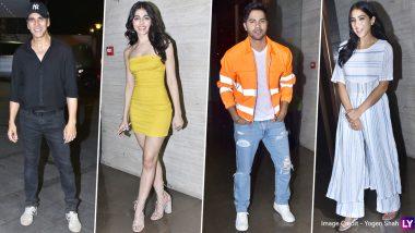वरुण धवन और सारा अली खान की फिल्म कुली नंबर 1 की रैपअप पार्टी में लगा सितारों का मेला, देखिए तस्वीरें