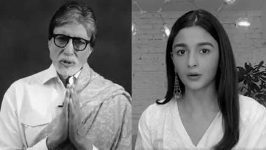 कोरोना वायरस के खिलाफ एकजुट हुए बॉलीवुड सितारें, अमिताभ बच्चन से लेकर आलिया भट्ट तक ने फैन्स की अपील (Video)