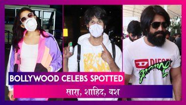 Sara, Shahid Kapoor एयरपोर्ट पर फेस मास्क लगाए आए नजर, KGF स्टार Yash भी हुए स्पॉट | Celebs Spotted