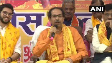 उद्धव ठाकरे राम मंदिर के लिए देंगे 1 करोड़ रुपये, कहा- 'मैं बीजेपी से अलग हूं, हिंदुत्व से नहीं'