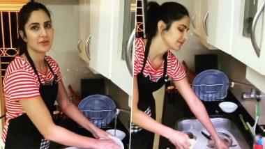 Coronavirus Outbreak: कैटरीना कैफ ने घर में धोए बर्तन, Video शेयर कर कही ये बात
