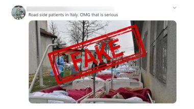 Fact Check: इटली के अस्पतालों में COVID-19 के मरीजों के लिए नहीं है जगह, सड़क पर सोने को मजबूर ? जानें वायरल तस्वीरों की सच्चाई
