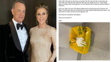 हॉलीवुड स्टार टॉम हैंक्स और उनकी पत्नी रीटा आए कोरोना वायरस की चपेट में, एक्टर ने सोशल मीडिया पर किया खुलासा