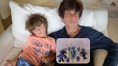 अबराम खान ने बनाई पिता शाहरुख खान की ड्रॉइंग, किंग खान ने क्यूट फोटो शेयर करके कही दिल की बात