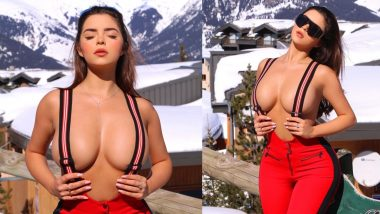 Demi Rose Bold Photo: बर्फीली पहाड़ियों के बीच में टॉपलेस हुई हॉट डेमी रोज, एक्ट्रेस से नजरें हटा पाना हुआ मुश्किल