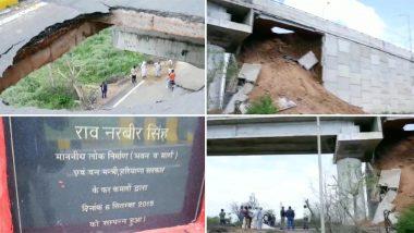 दिल्ली से सटे गुरुग्राम के पटौदी फ्लाईओवर का एक हिस्सा गिरा, 7 महीने पहले ही हुआ था उद्घाटन