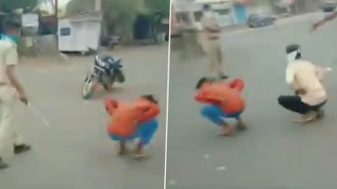 लॉकडाउन:राजस्थानके प्रतापगढ़में घरों से बाहर निकले युवकों को पुलिस ने दी येसजा, वीडियो वायरल