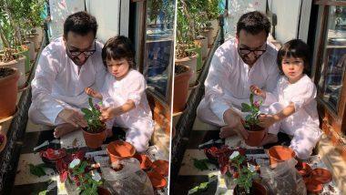 Janta Curfew:तैमूर अली खान ने पापा सैफ अली खान के साथ घर पर लगाया पेड़, करीना कपूर ने शेयर की क्यूट फोटोज