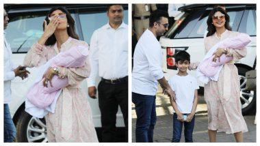 शिल्पा शेट्टी बेबीसमिषा को लेकर आईं घर, पति राज कुंद्रा भी दिखे साथ, देखें Photos