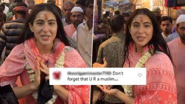 सारा अली खान पहुंची काशी विश्वनाथ मंदिर तो इंटरनेट पर यूजर ने किया Troll, कहा- भूलो मत तुम मुसलमान हो