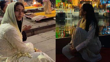 वाराणसी: भोलेनाथ की नगरी पहुंची सारा अली खान, गंगा आरती में हुईं शामिल, देखें Photos