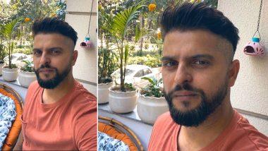 सुरेश रैना ने घर में अपनी पत्नीं प्रियंका रैना से कराई हेयर कटिंग, देखें तस्वीर
