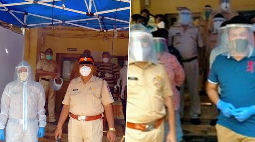 मुंबई: कोरोना की चपेट में धारावी, पुलिस स्टेशन के बाहर शिवसेना सांसद राहुल शेवाले ने लगवाया पुलिसकर्मियों के लिए सैनिटाइजेशन टेंट