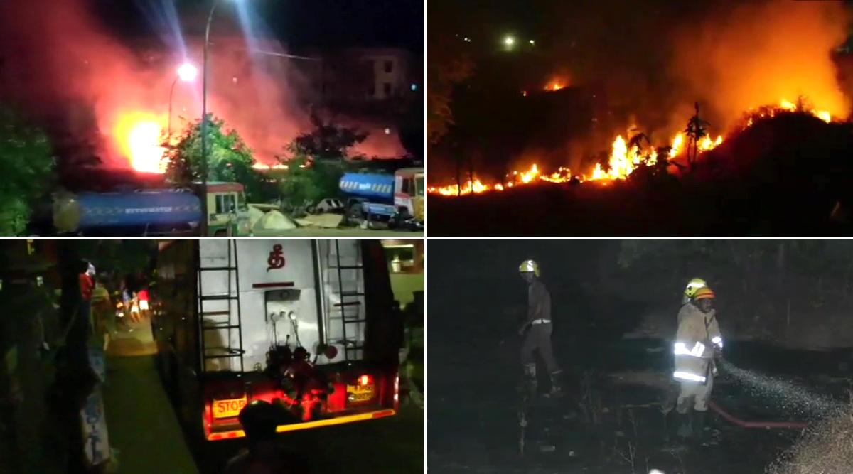 चेन्नई: पीएम मोदी के दीया जलाने की अपील पर एर्नावुर इलाके में युवाओं के पटाखे जलाने से लगी भयंकर आग, फायर टेंडर्स की 3 गाडियों ने पाया आग पर काबू