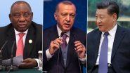 शी चिनफिंग ने तुर्की व दक्षिण अफ्रीका के राष्ट्रपतियों से की फोन की चर्चा