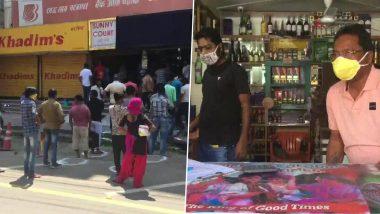 तेलंगाना:  शराब की दुकानें फिर से खुलीं, लोगों ने लगाई लम्बी कतार