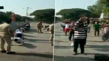कोरोना संकट: महाराष्ट्र के पुणे में लॉकडाउन के दौरान मॉर्निंग वॉक पर निकले लोगों से पुलिस ने करवाया योगा, देखें वीडियो