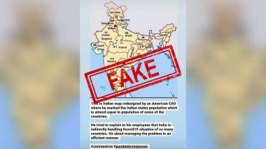 Fact Check: कोरोना के खिलाफ भारत की लड़ाई को दिखाने के लिए अमेरिकी CEO ने बनाया नया मैप? जानिए पूरी सच्चाई
