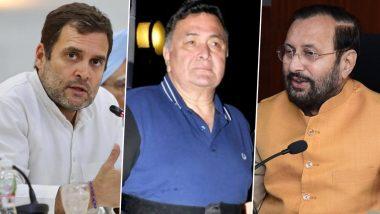 RIP Rishi Kapoor: ऋषि कपूर के निधन से बॉलीवुड में शोक की लहर, राहुल गांधी और प्रकाश जावड़ेकर समेत इन राजनेताओं ने ट्विटर पर दी श्रद्धांजलि