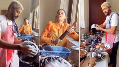 लॉकडाउन में पत्नी के बेलन से डरकर रितेश देशमुख को धोने पड़ रहे हैं घर के बर्तन, फनी टिक टॉक वीडियो किया शेयर