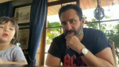 सैफ अली खान के लाइव इंटरव्यू में अचानक आए तैमूर ने पूछा ऐसा सवाल, कंफ्यूज हो गए छोटे नवाब