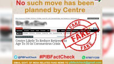 Fact Check: केंद्र सरकार के कर्मचारियों की रिटायरमेंट उम्र घटाकर 50 साल की जाएगी? PIB फैक्ट चेक ने बताया फेक न्यूज का सच
