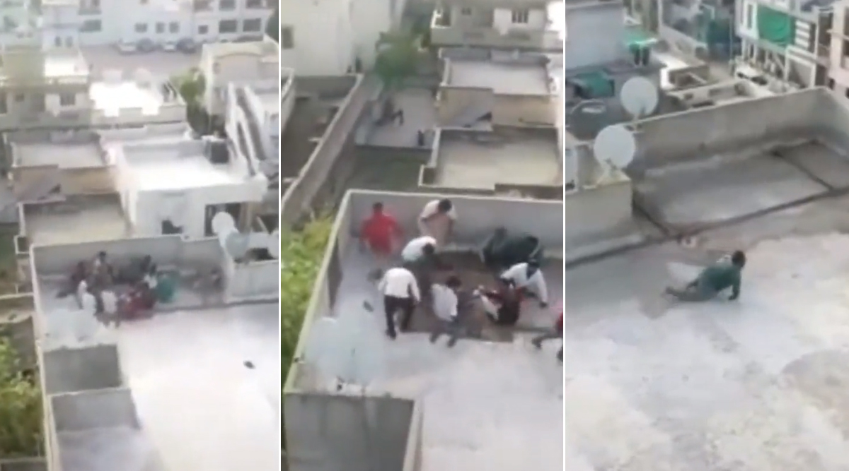 Coronavirus Lockdown: छत पर ताश खेल रहे थे लोग, पुलिस के ड्रोन को देखते ही मची अफरा-तफरी, देखें वायरल वीडियो