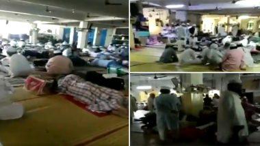कोरोना संकट ने बीच चर्चा का केंद्र बनें निजामुद्दीन मरकज का पहला वीडियो आया सामने, बिल्डिंग के अंदर बड़ी संख्या में दिख रहें लोग; Watch Video