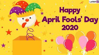 April Fools' Day 2020 Jokes: इन मजेदार जोक्स, WhatsApp Stickers, GIF Images, HD Wallpapers, Funny Messages, Facebook Greetings के जरिए दें अप्रैल फूल दिवस की शुभकामनाएं