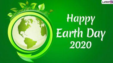 Happy Earth Day 2020 Wishes & Images: प्रियजनों को दें पृथ्वी दिवस की शुभकामनाएं, भेजें ये शानदार GIF Greetings, WhatsApp Stickers, Facebook Messages और एचडी वॉलपेपर्स