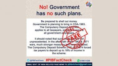Fact Check: सभी टैक्सपेयर्स को जमा करानी पड़ेगी अपनी 18% आय, केंद्र ला रही अधिनियम?