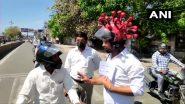 COVID-19 के प्रति जागरूक करने के लिए शख्स ने पहना कोरोना थीम वाला हेलमेट, महामारी के प्रसार को रोकने के लिए की लोगों से घरों में रहने की अपील